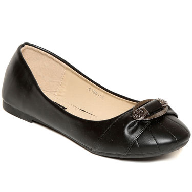 Synthetic Leather Black Bellies -blbltblk01