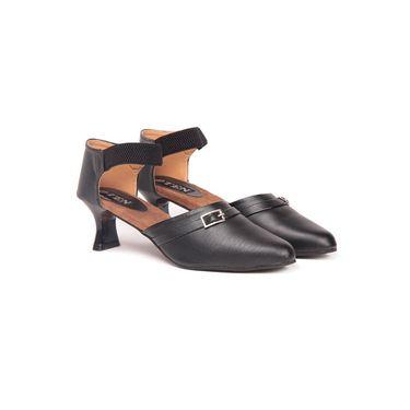 Ten Leather Black Sandals -ts69