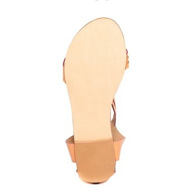 Synthetic Leather Tan Sandals -10Tan01