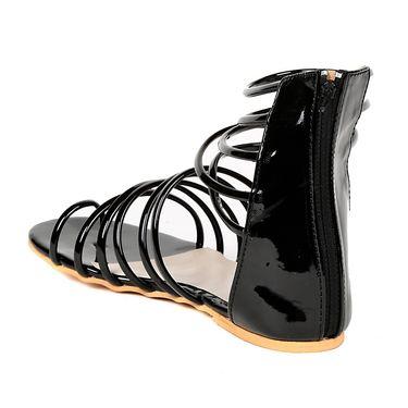 Ten Patent Leather Black Gladiator -ts293