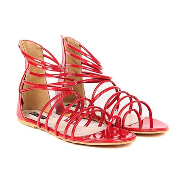 Ten Patent Leather Red Gladiator -ts295