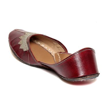 Patent Leather Maroon Juttis -03Mrn01