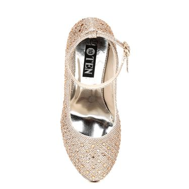 Non Leather Copper Pumps For Womens -tb10