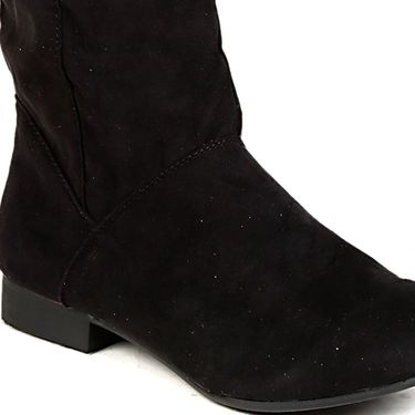 Non Leather Black Boots For Womens -tb17