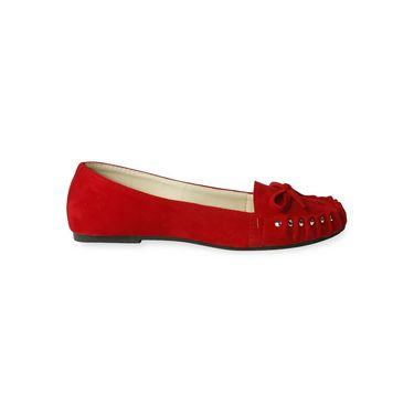 Ten Suede Red Loafers -ts109