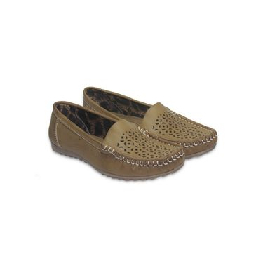 Ten Leather Tan Loafers -ts112