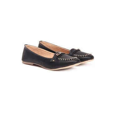 Ten Synthetic Leather 158 Women's Loafers - Black