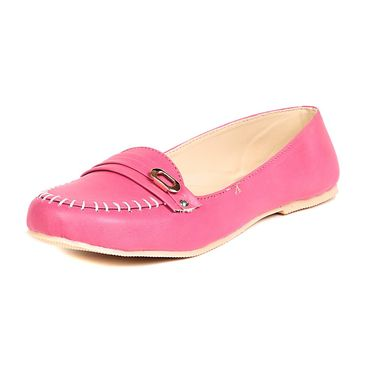 Ten Synthetic Leather Pink Loafers -ts302