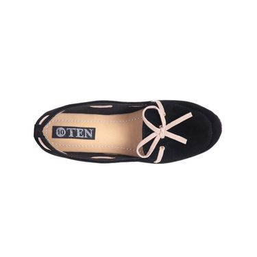 Ten Suede Black Loafers -ts131