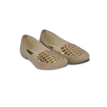 Ten Suede Beige Loafers -ts113