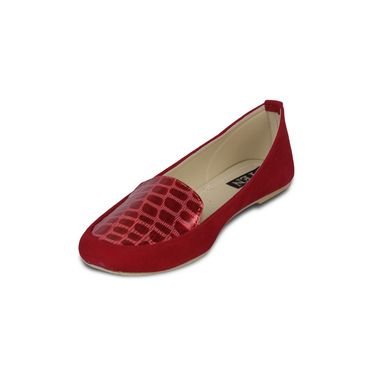 Ten Suede Red Loafers -ts115