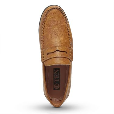 Ten Tan Synthetic Leather Loafers -mtj26