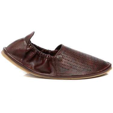 Ten Brown Leather Mojari -mtj01