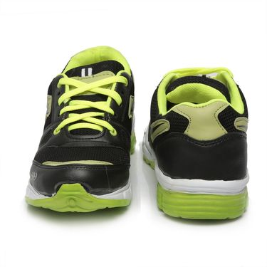 Ten Black & Green Mesh Sports Shoes -mtj12