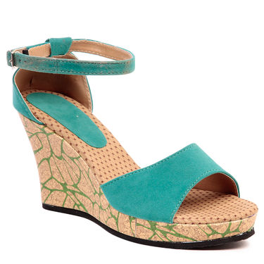 Ten Suede Green Sandals -ts205