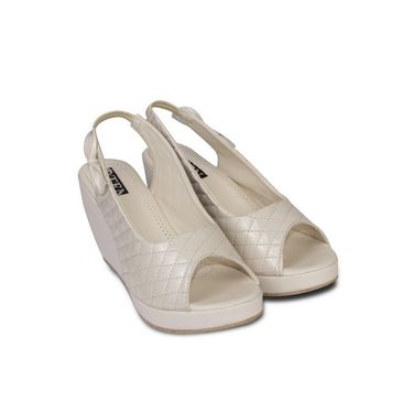 Ten Patent Leather Beige Wedges -ts19