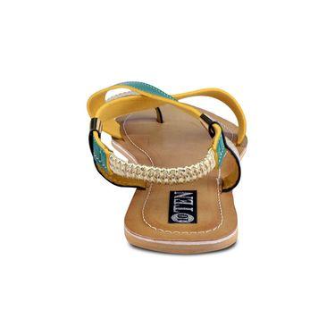 Ten Artificial Leather Green & Beige Sandals -ts24