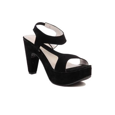 Ten Suade Leather 273 Women's Wedges - Black