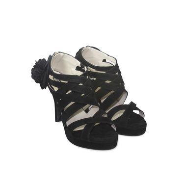 Ten Suede Black Stilettos -ts37