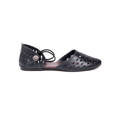 Ten Synthetic Leather Black Sandals -ts90
