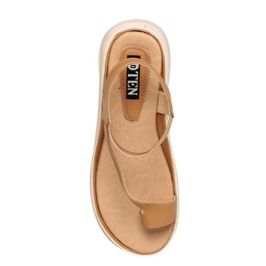 Ten Leather Beige Sandals -Tensantb-546Beg01