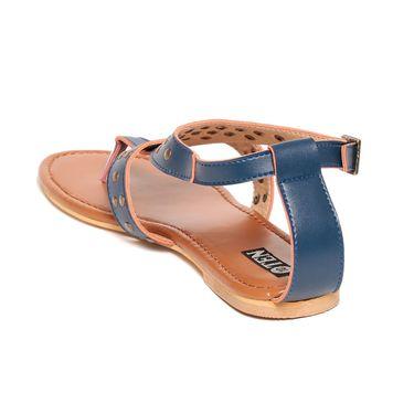 Patent Leather Blue Sandals -13Blu02