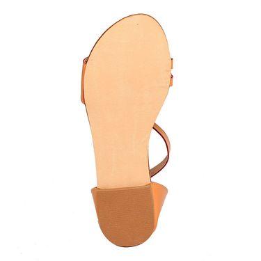 Patent Leather Tan Sandals -17Tan01