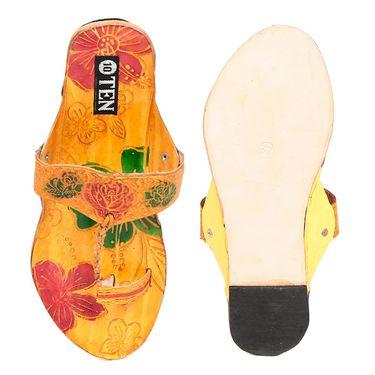 Womens Ethnic Slippers tj9 -Yellow