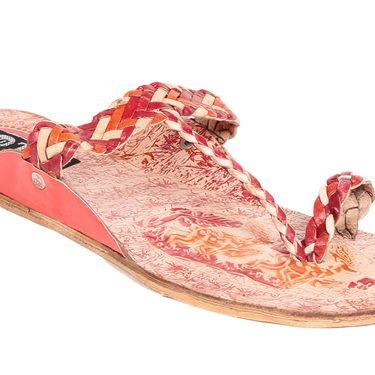 Womens Ethnic Slippers tj12 -Orange