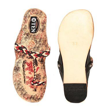 Womens Ethnic Slippers tj31 -Black