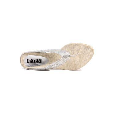 Ten Jute Fabric 295 Women's Sandals - Silver