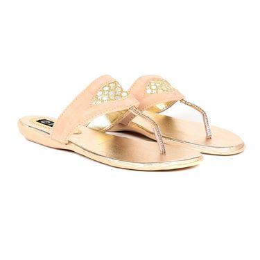 Ten Suede Beige Sandals -ts326