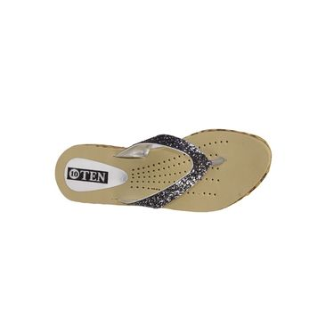Ten Synthetic Grey & Beige Slippers -ts52