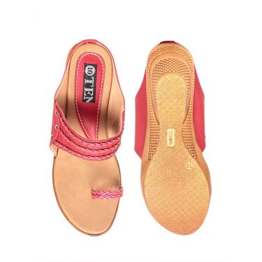 Ten Synthetic Red Flats & Slippers -ts53