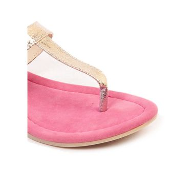 Ten Synthetic Leather Pink Sandals -ts203