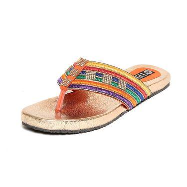 Fabric Orange Slippers -563Orng