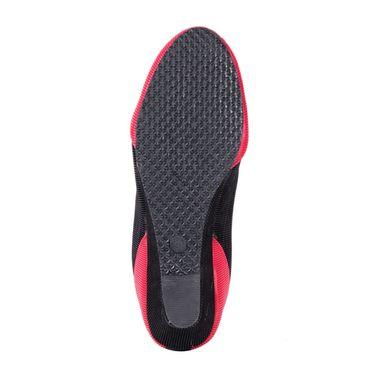 Ten Denim Black & Red Wedges -ts78