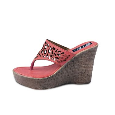 Ten Leather Pink Flats & Slippers -ts64