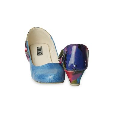 Ten Patent Leather Blue Wedges -ts65