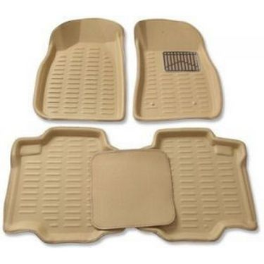3D Foot Mats for Mahindra Xylo Beige Color With Dikki Mat-TGS-3D beige 70