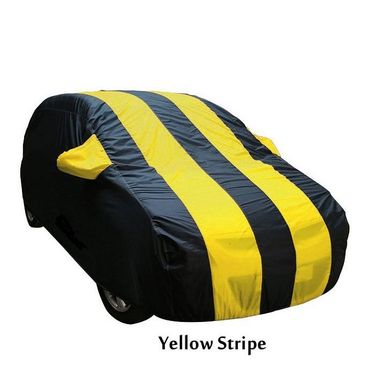 Nissan Micra Active Car Body Cover  imported Febric with Buckle Belt and Carry Bag-TGS-G-WPRF-120
