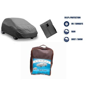 Hyundai Santa Fe Car Body Cover  imported Febric with Buckle Belt and Carry Bag-TGS-G-WPRF-61