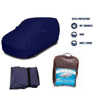 Mahindra TUV 300 Car Body Cover  imported Febric with Buckle Belt and Carry Bag-TGS-G-WPRF-74