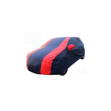 Nissan Micra Active Car Body Cover Red Blue imported Febric with Buckle Belt and Carry Bag-TGS-RB-120