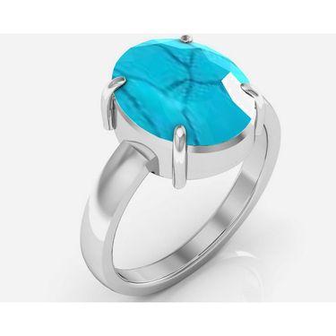 Kiara Jewellery Certified Turquoise 3.0 cts & 3.25 Ratti Turquoise Ring_Tqrw