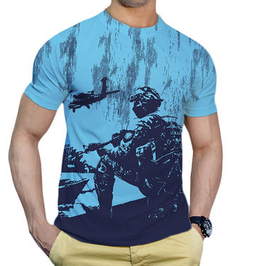 Effit Printed Casual Tshirts_Trsb0607 - Sky Blue