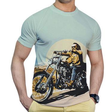 Effit Printed Casual Tshirts_Trsb0608 - Sky Blue