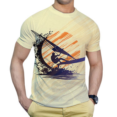 Effit Printed Casual Tshirts_Try0611 - Yellow