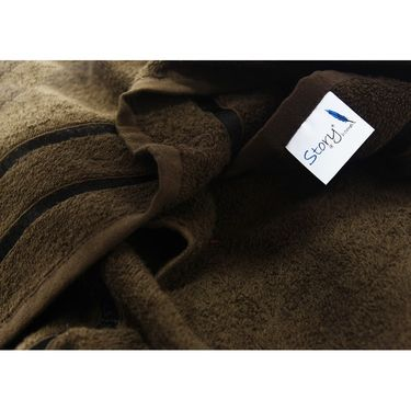 Story@Home Set of 2 Pcs Bath Towel 100% Cotton-Brown-TW1208-2X