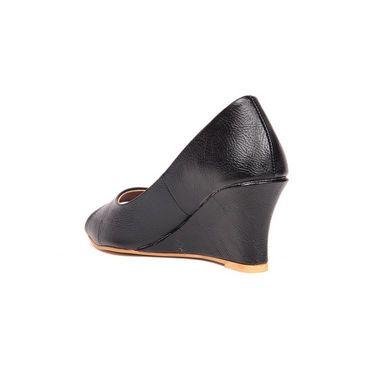 Ten Leatherite 198 Wedges & Platforms - Black
